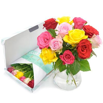Brievenbusbloemen - Bos gemengde rozen