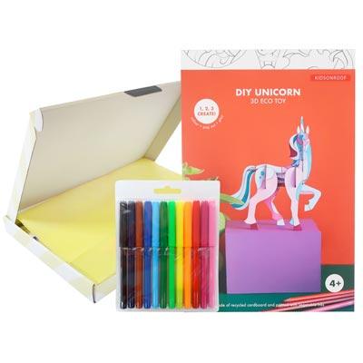 Brievenbuscadeau - Unicorn 3D Kids Kleurpakket