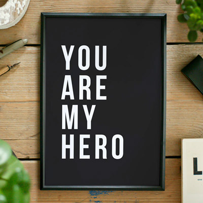 Brievenbuscadeau - Wall Art - My Hero