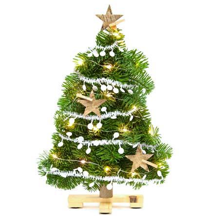 Brievenbus Kerstboom met verlichting