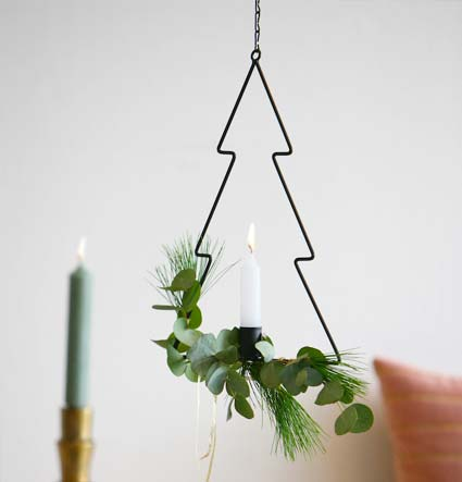Brievenbus Kerstboom met kaars DIY