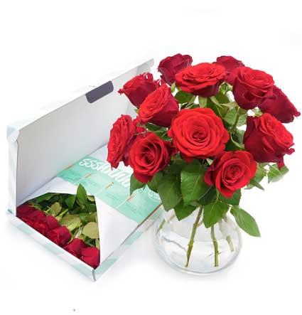 Brievenbusbloemen - Bos rode rozen