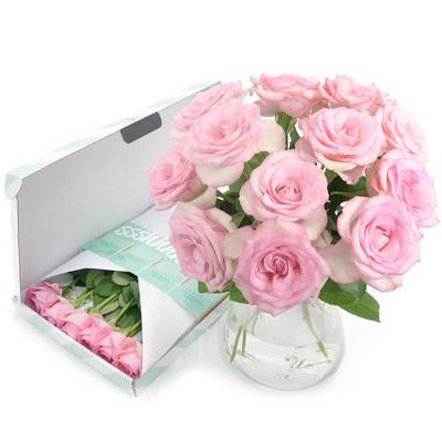 Brievenbusbloemen - Bos roze rozen
