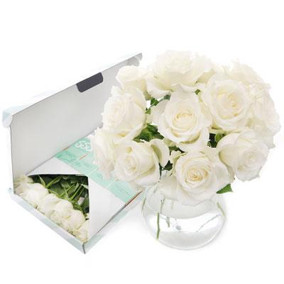 Brievenbusbloemen - Bos witte rozen