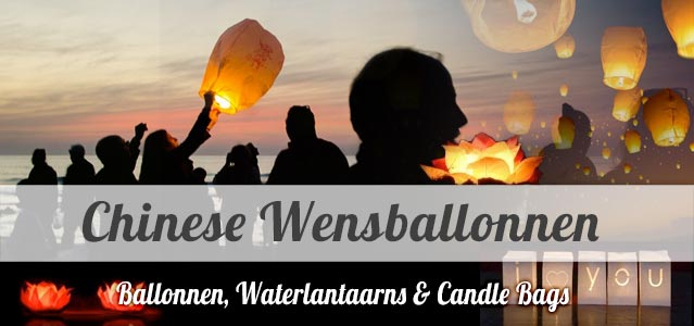 Chinese Ballonnen, Waterlantaarns & Candle Bags