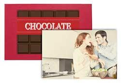 Chocolade met foto of logo bij Gefelicitaart