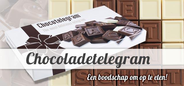 Chocoladetelegram versturen