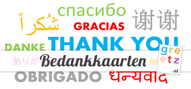 Bedankkaarten - Thank you!