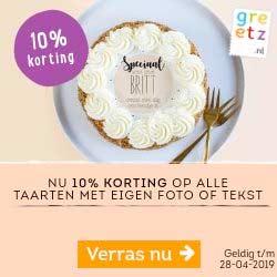 10% Korting op Taart