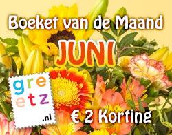 Boeket van de Maand Juni - 'Zonnestraal' voor € 22,99
