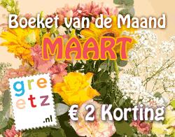 Greetz Boeket van de Maand - € 2 Korting