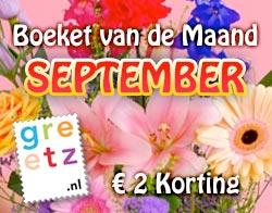 Boeket van de Maand September - € 2 Korting