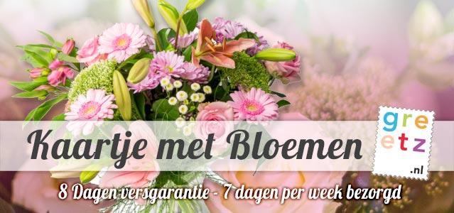 Greetz kaartje met Bloemen
